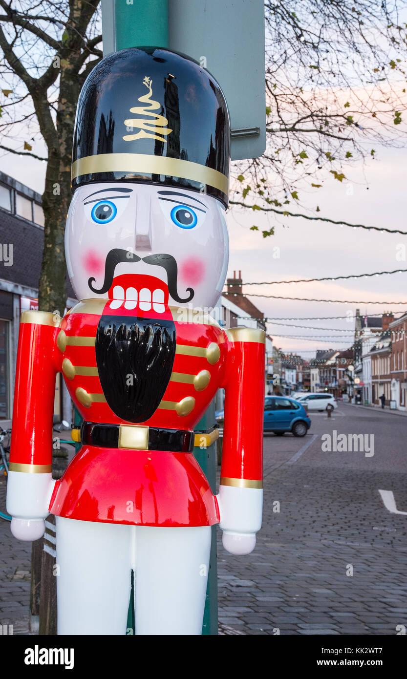 Lichfield Staffordshire England November 28th 2017. One of a dozen Nutcracker Men placed around the city as part - Stock Image