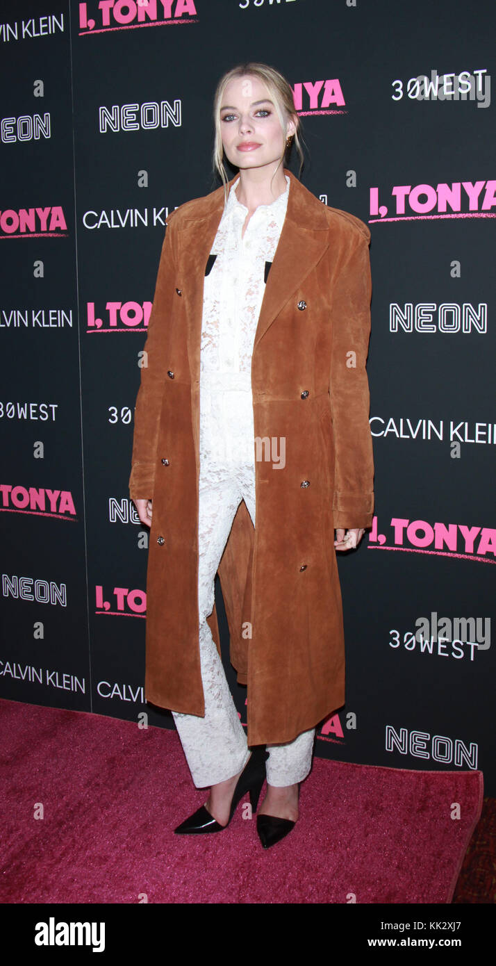 New York, NY, USA. 28th Nov, 2017. Margot Robbie attend Calvin Klein, Neon & 30West host the New York premiere - Stock Image
