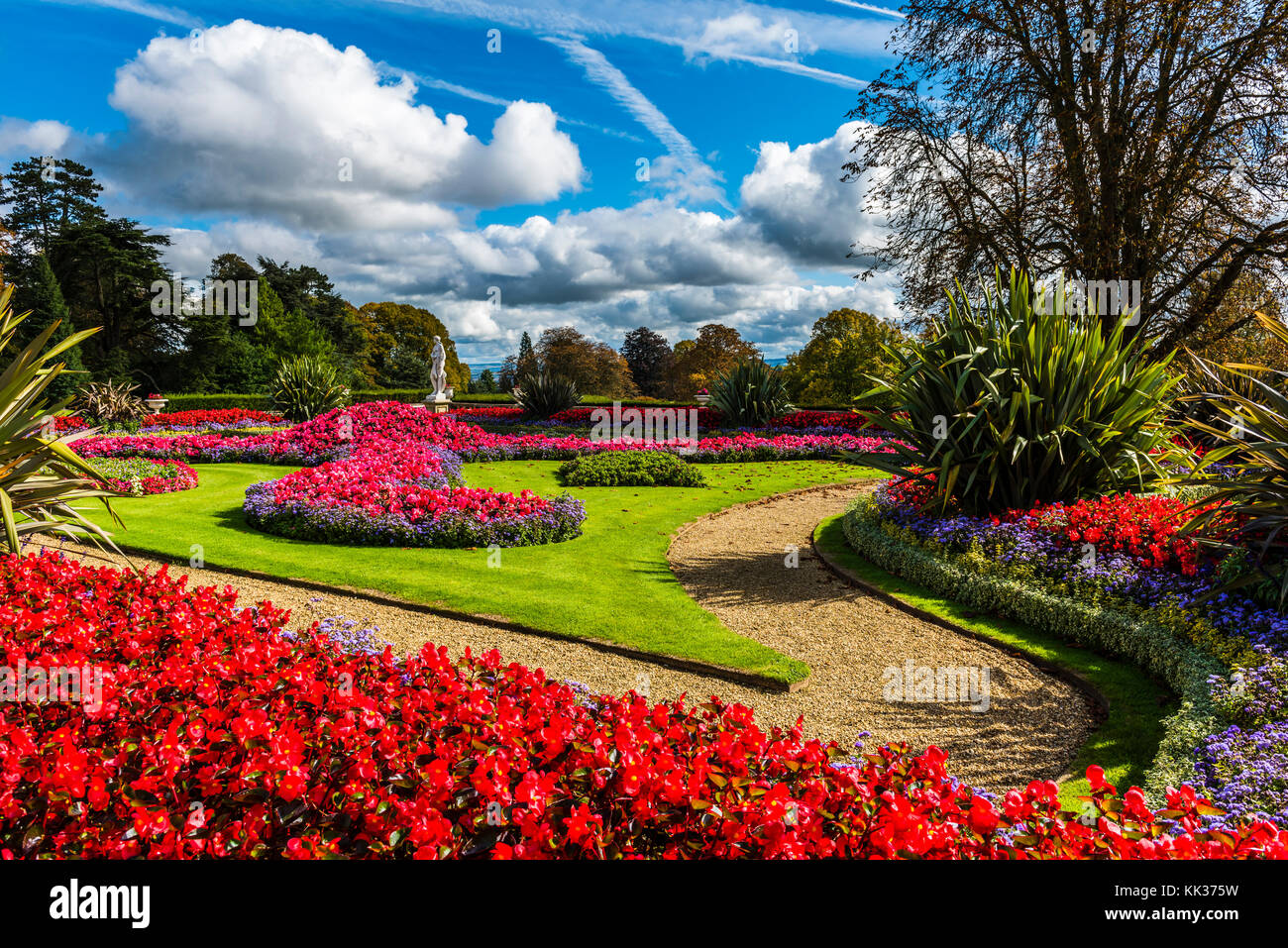 Parterre and gardens at Waddesdon Manor, Buckinghamshire, UK - Stock Image