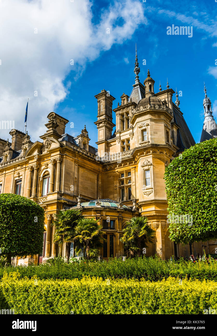 Details of the French-style chateau at Waddesdon Manor, Buckinghamshire, UK - Stock Image