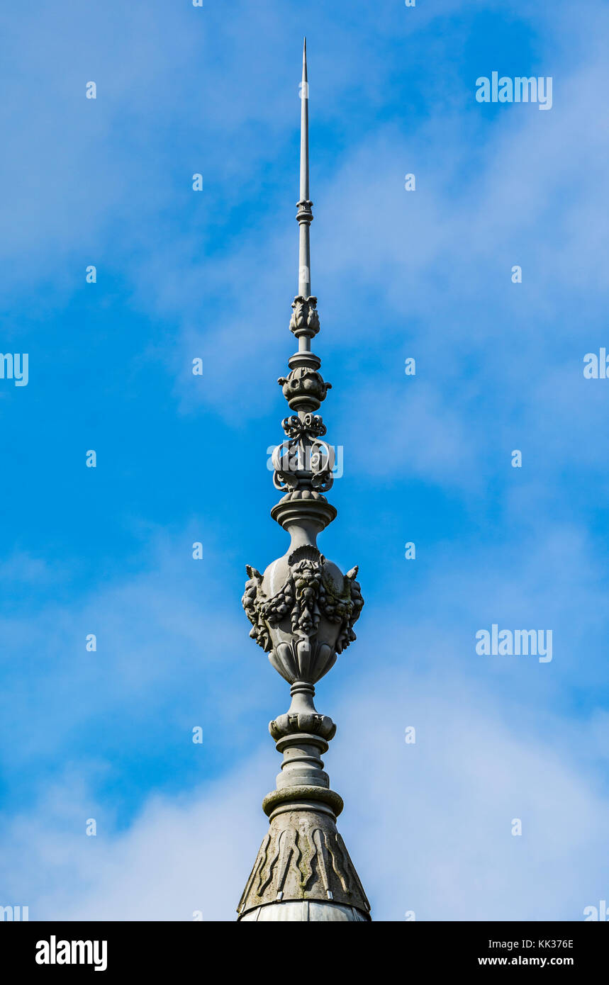 Roof spire detail at Waddesdon Manor, Buckinghamshire, UK - Stock Image