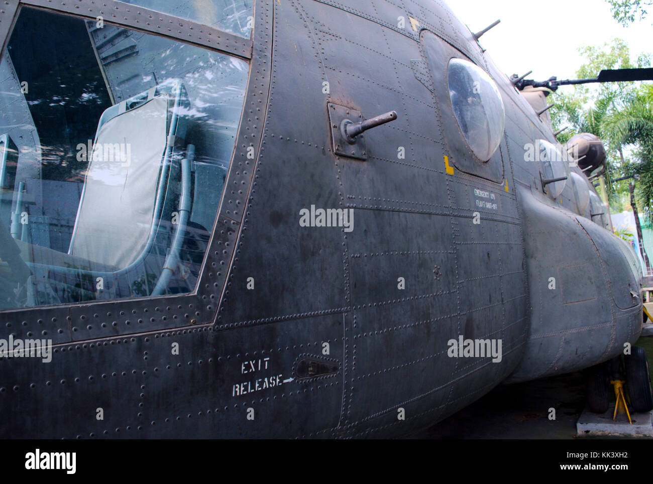 Helicopter fuselage - Stock Image