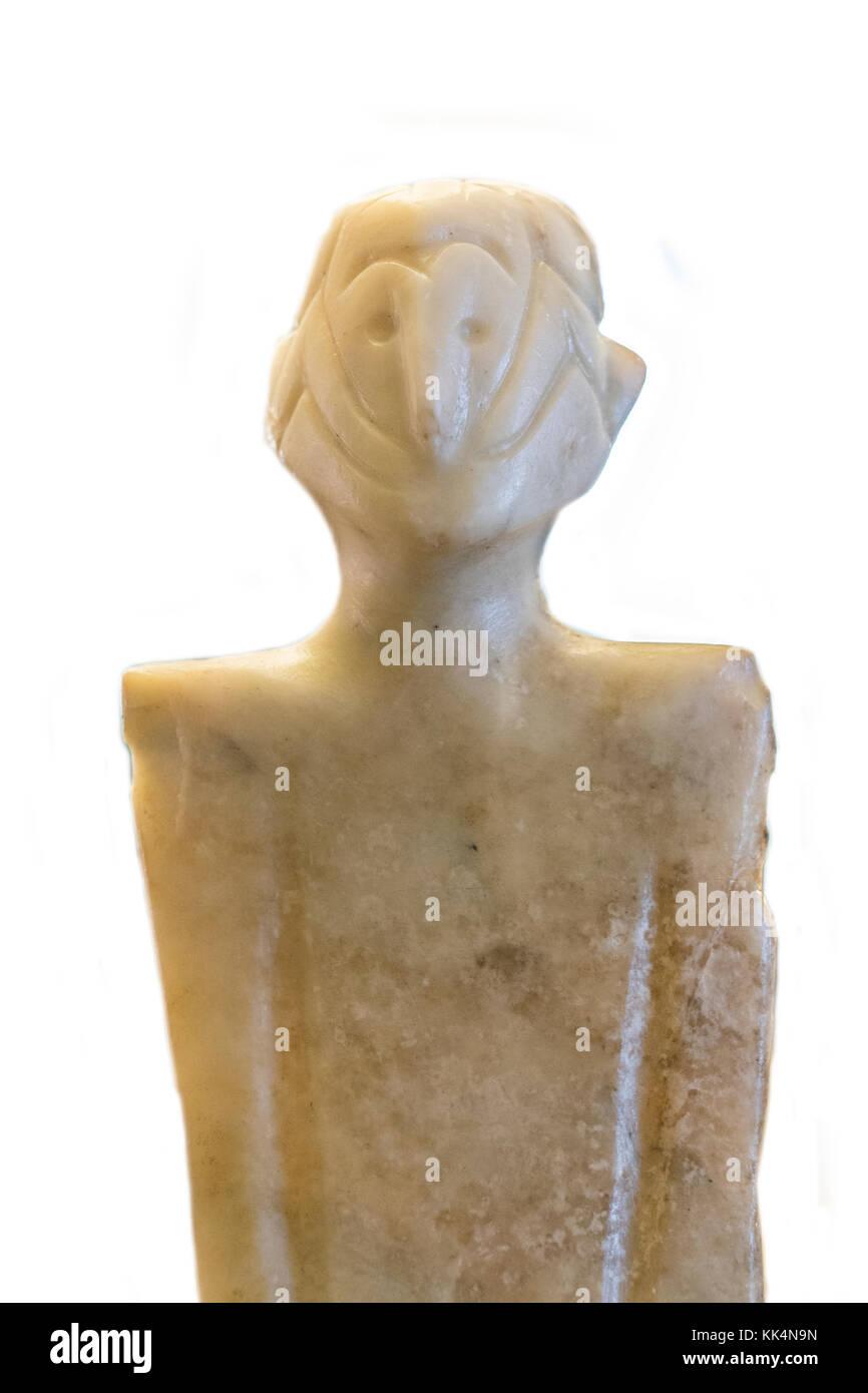 Anthropomorphous idol of Rena, Badajoz. Representation of deity belong to Chalcolithic period - Stock Image