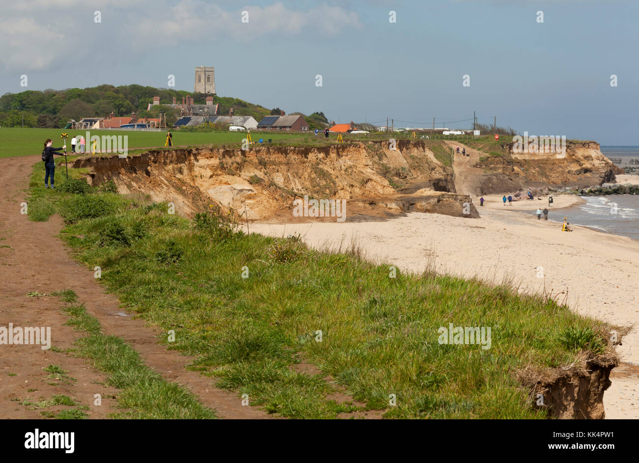 coastal erosion at happisburgh norfolk The parish of happisburgh is located on norfolk's northeast coast,  the first has been abandoned, the second lost to coastal erosion.