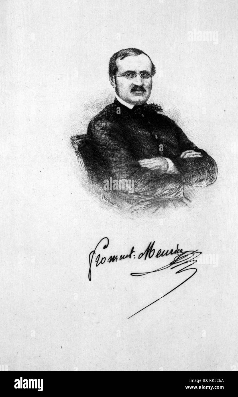 Etched portrait of Francois-Desire Froment-Meurice, French goldsmith, working in a free and naturalistic manner - Stock Image