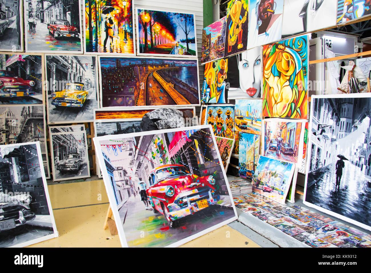 Centro Cultural Antiguos Almacenes De Deposito San Jose market, Havana, Cuba - Stock Image