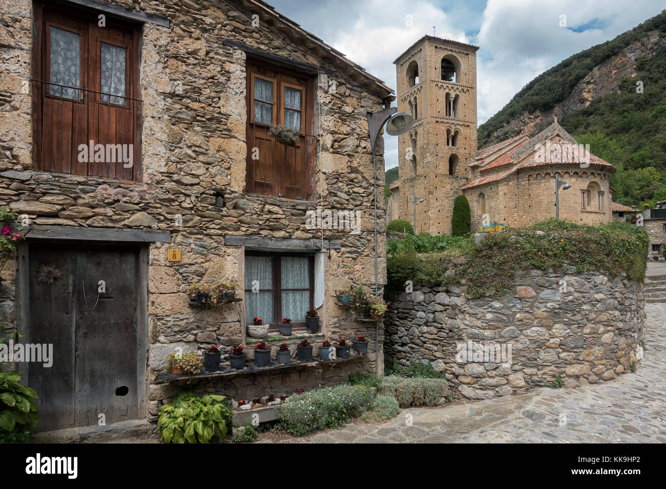 Beget village,Gerona province.catalonia.Spain - Stock Image