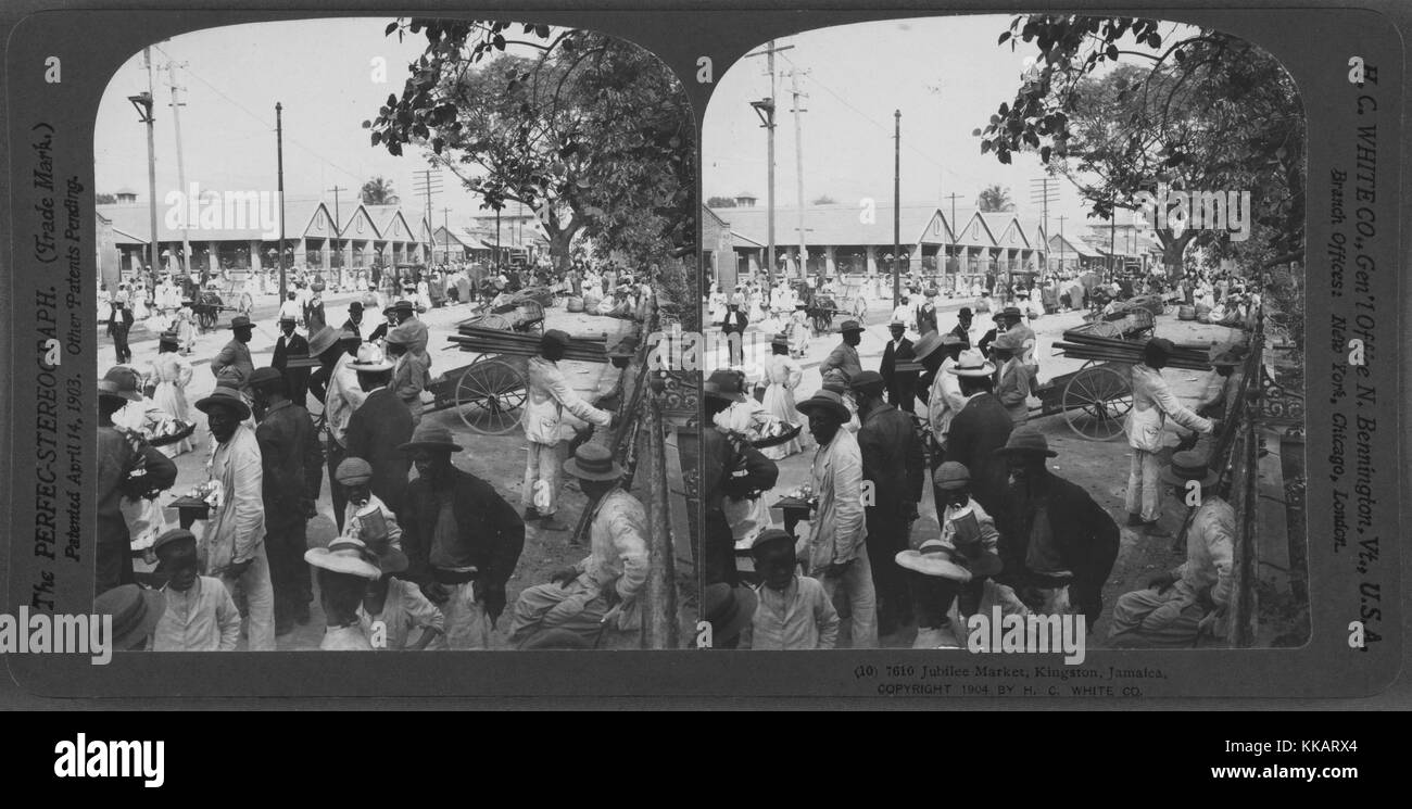 Jubilee Market, Kingston, Jamaica, 1904. From the New York Public Library. - Stock Image