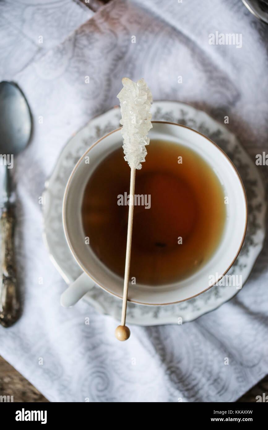 Cup of earl grey tea - Stock Image