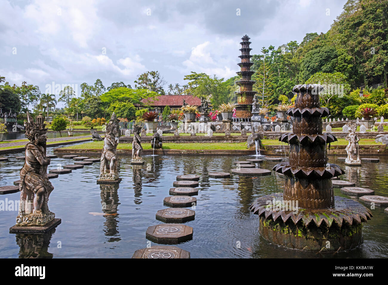 Tirta Gangga Royal Water Garden: Bali Garden Stock Photos & Bali Garden Stock Images