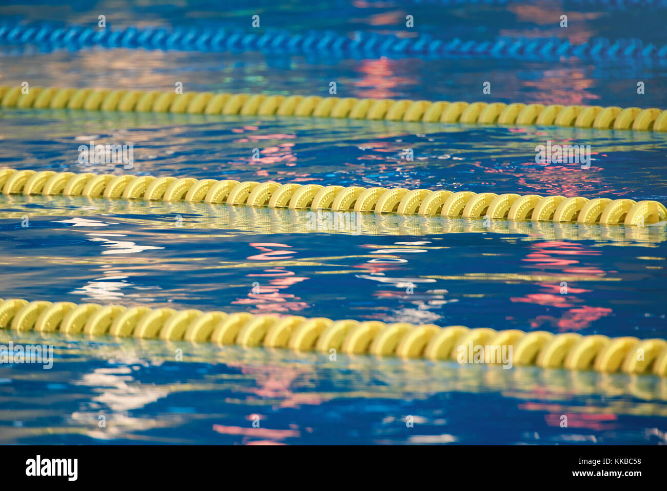 Olympic swimming pool empty stock photos olympic swimming pool empty stock images alamy - Olympic swimming pool lanes ...