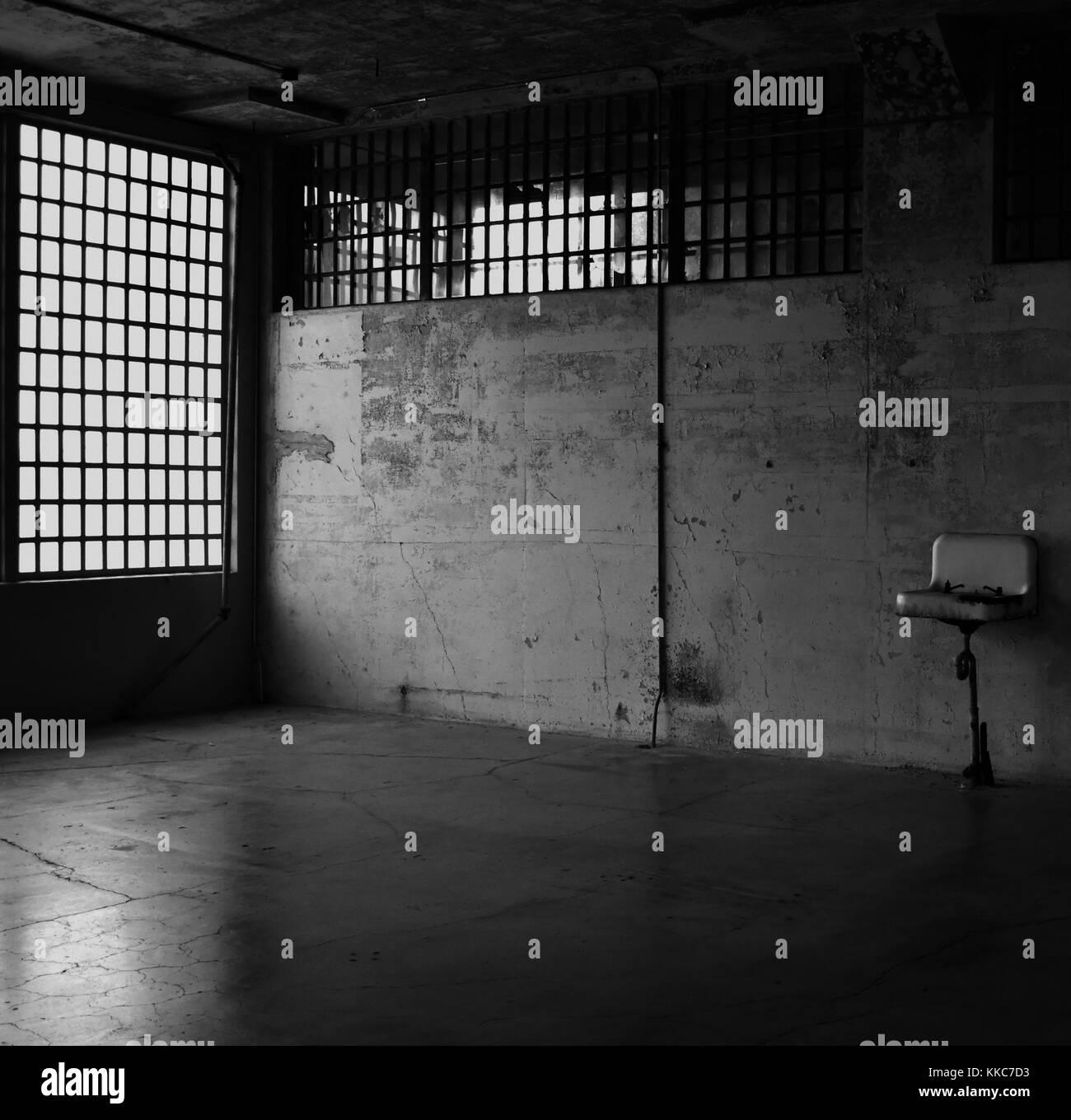 Room in Alcatraz Prison - Stock Image