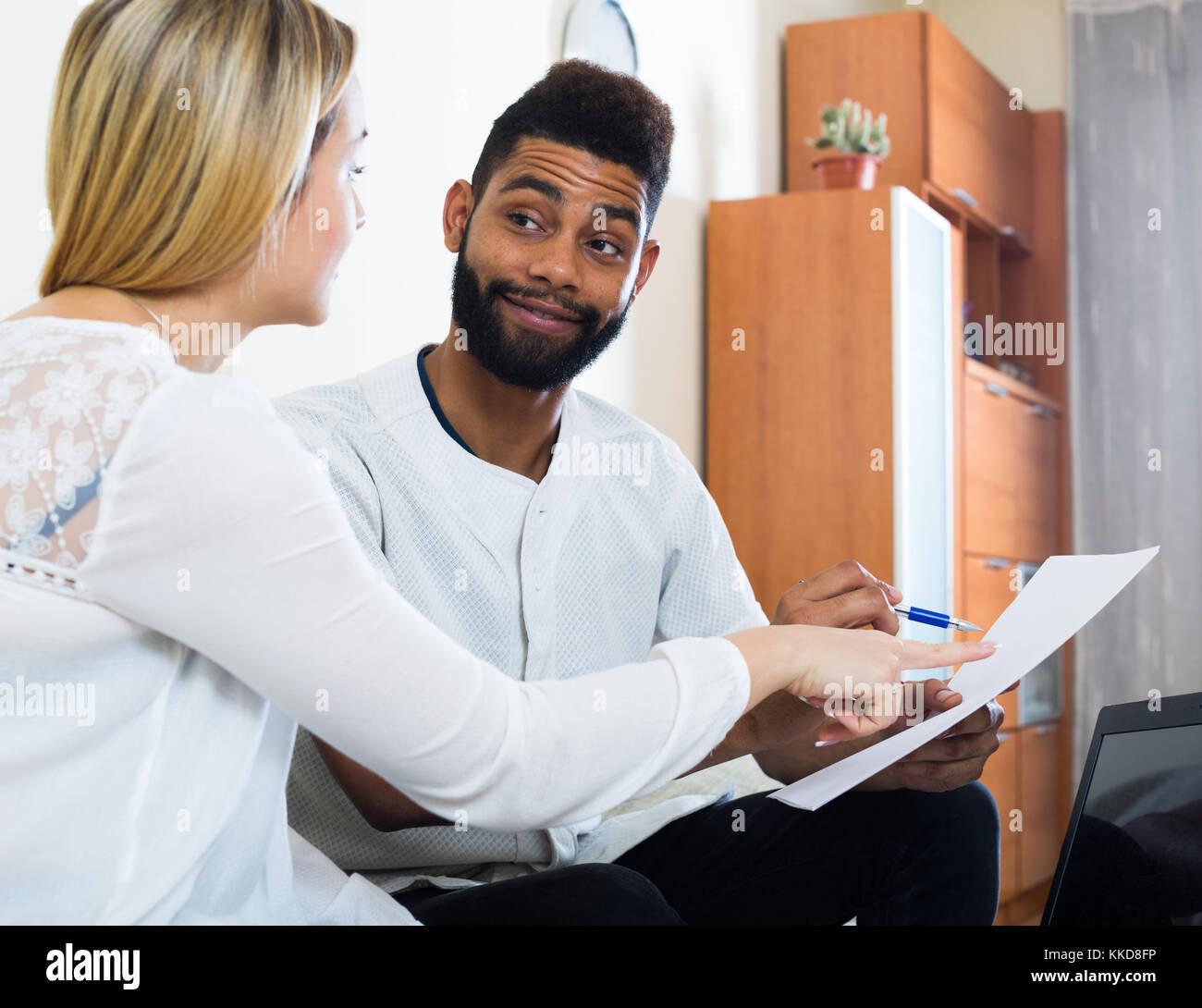 Young interracial couple essay