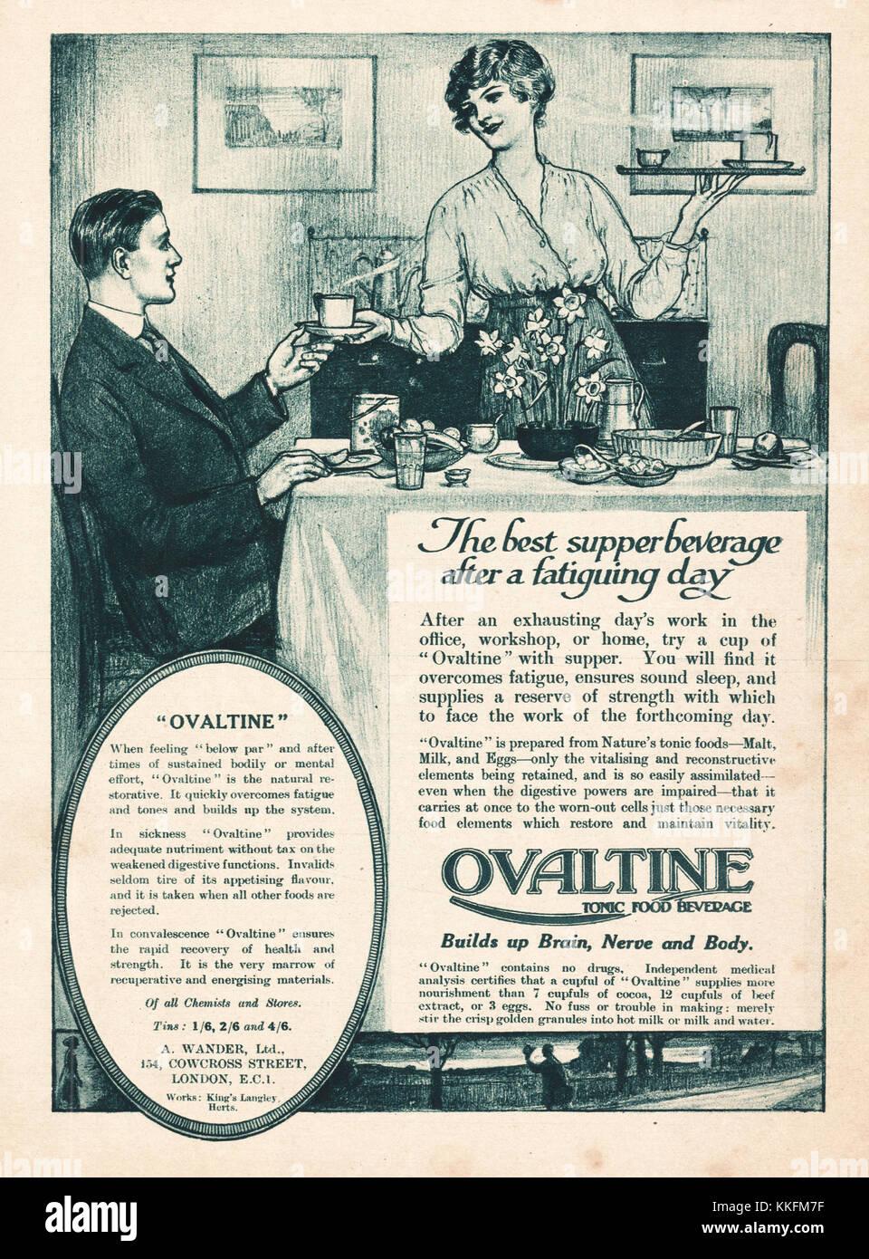 Advertisement For Ovaltine Stock Photos & Advertisement ...
