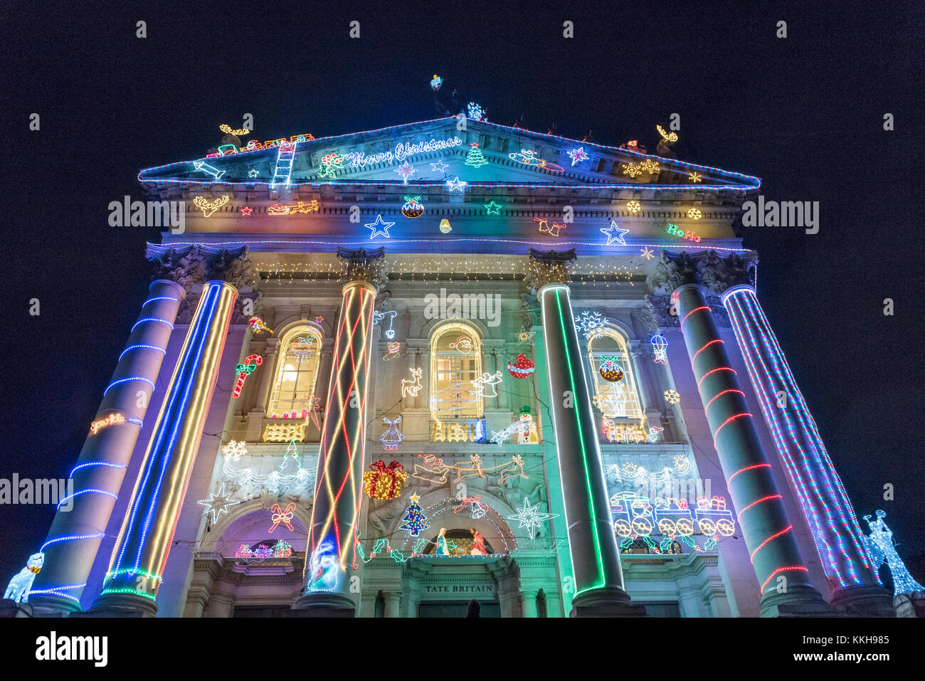 London, UK.  1 December 2017.  Alan Kane's new festive work, 'Home for Christmas', is unveiled at Tate - Stock Image