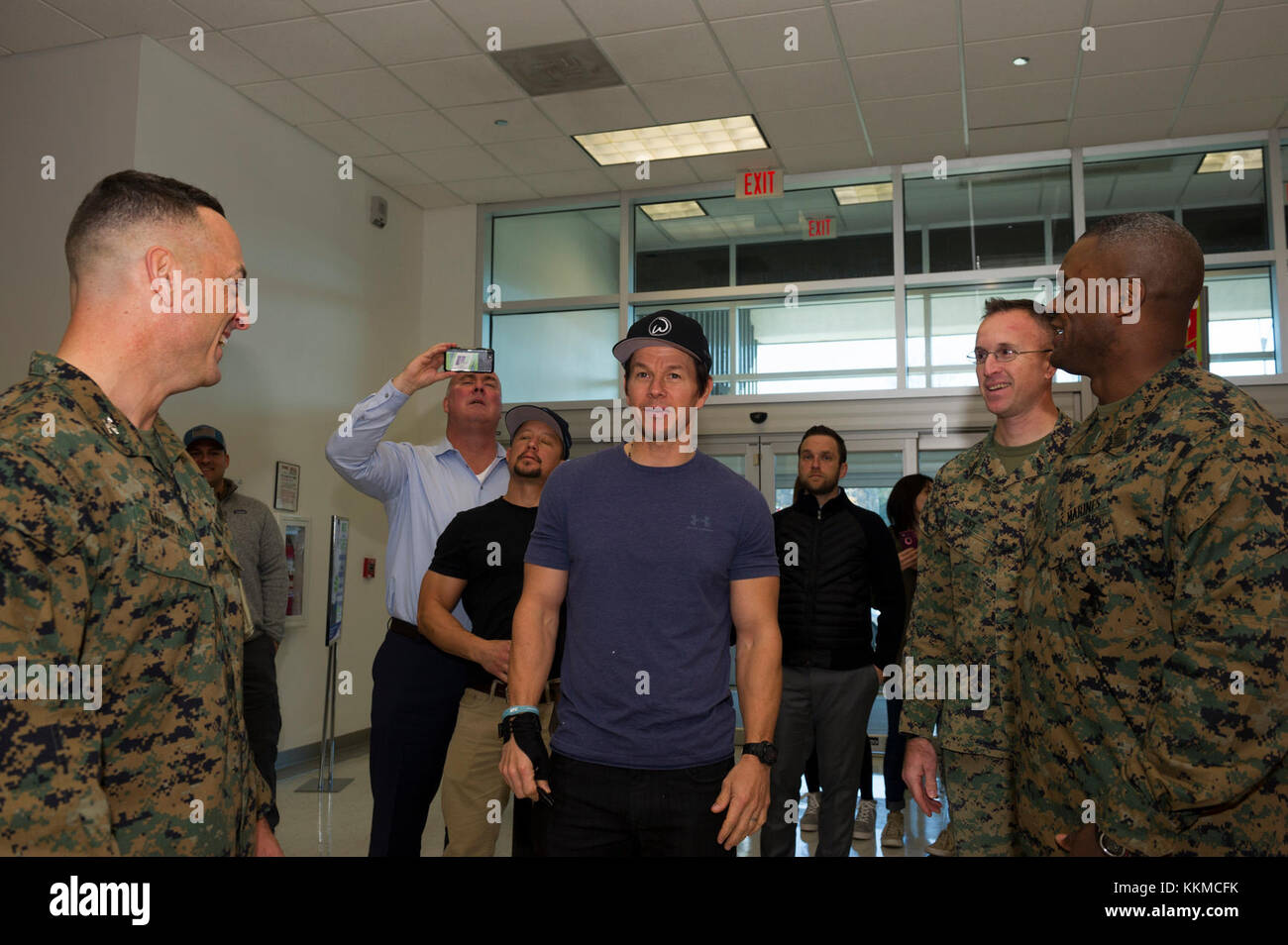 U.S. Marine Corps Col. Joseph Murray, left, commander ...