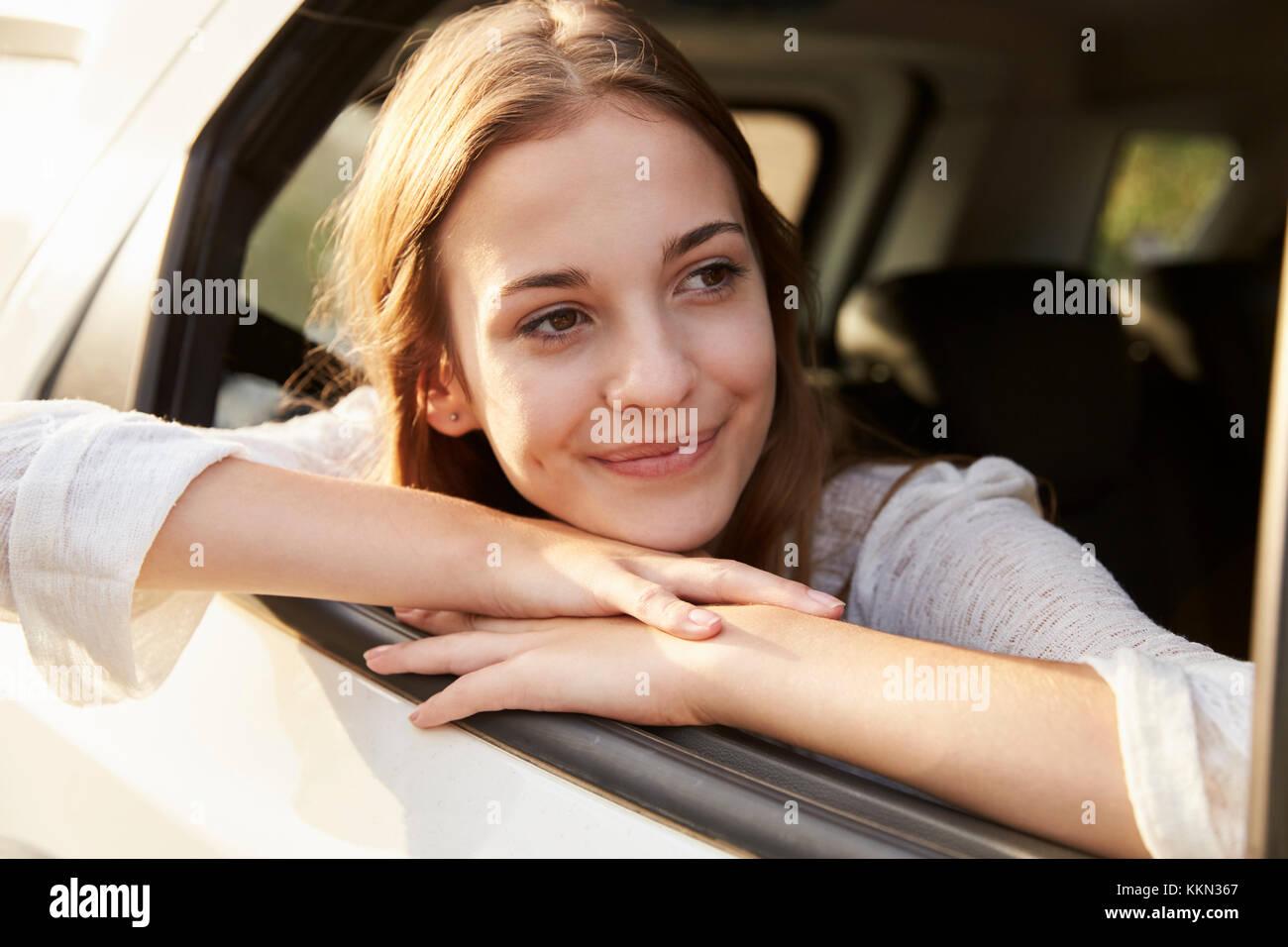 teenage girl looking out window stock photos amp teenage