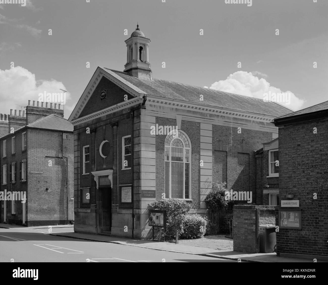 Unitarian Memorial Church, Emmanuel Road Cambridge - Stock Image