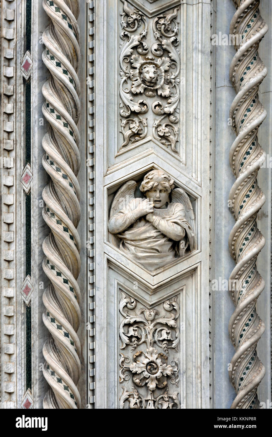 The Cattedrale di Santa Maria del Fiore  - Cathedral of Saint Mary of the Flower 336 Florence Italy Il Duomo di - Stock Image