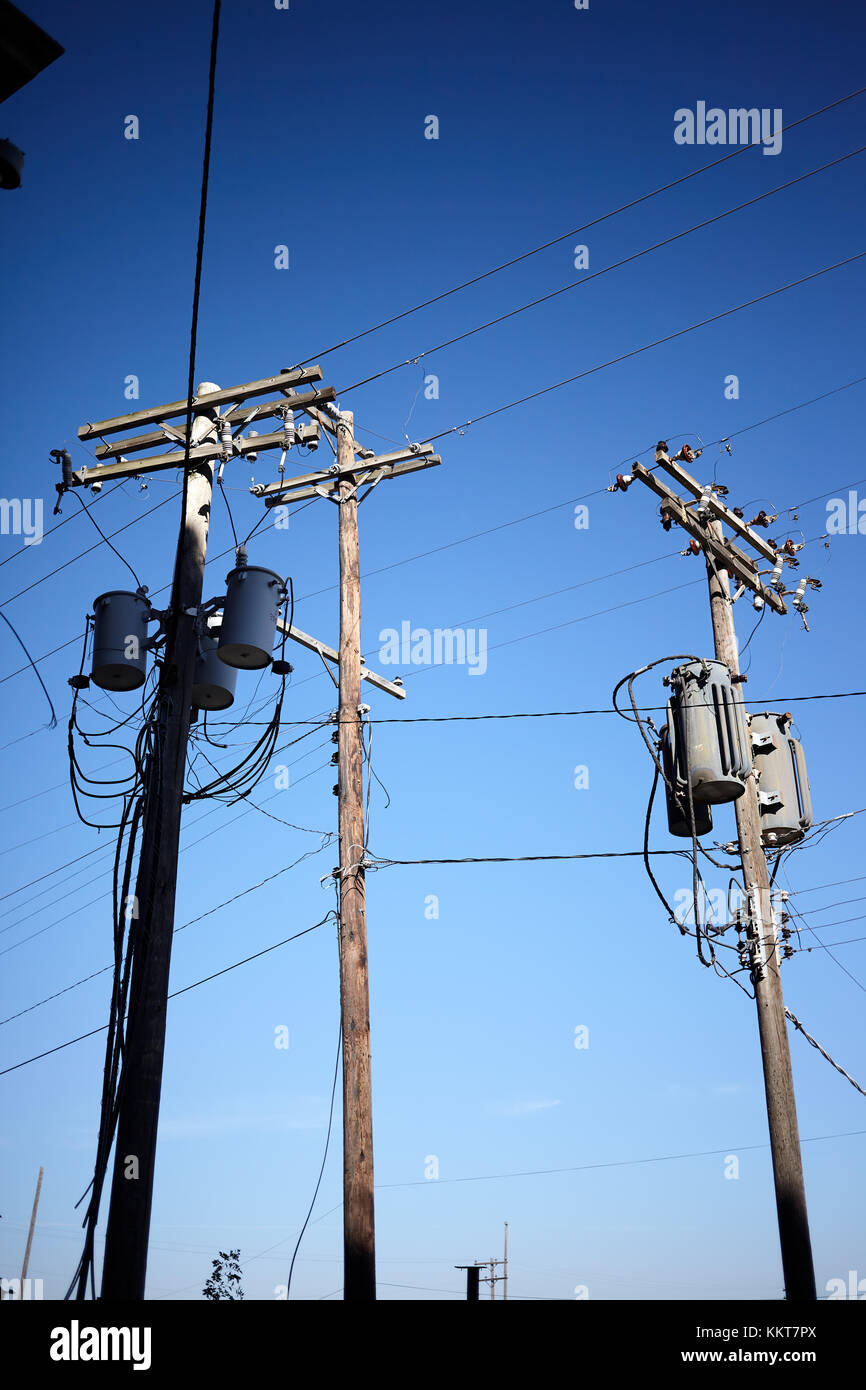 High Voltage Cable Connection Insulator : Old wooden electricity pylon power stock photos