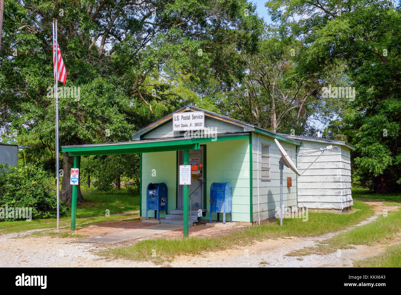 Small rural American Post Office in the community of Ft Davis Alabama, USA. - Stock Image