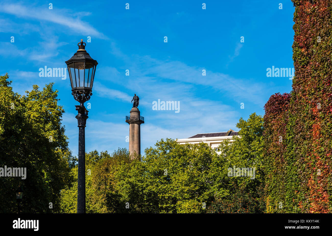 Grand old Duke of York statue on The Mall, London, UK - Stock Image