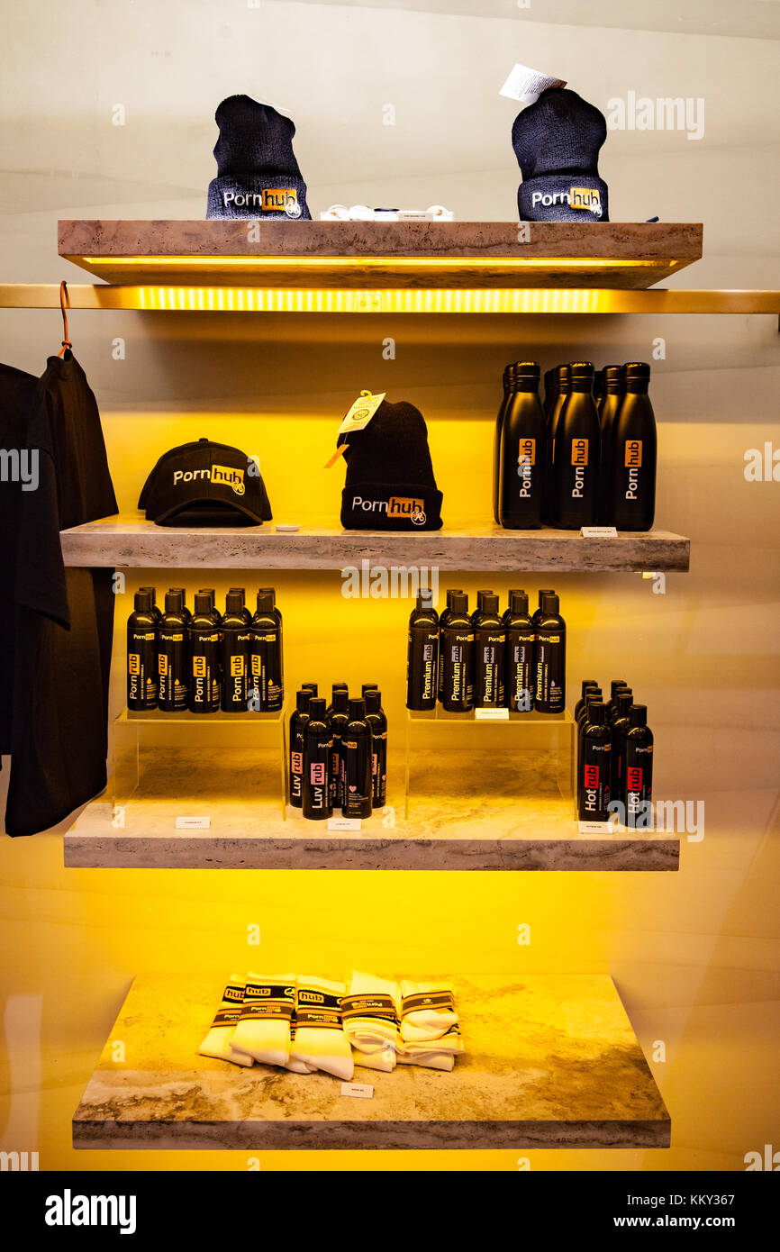 November 28th, 2017 - New York City, USA : Items and details of the temporary Popup Store at Prince Street in New - Stock Image