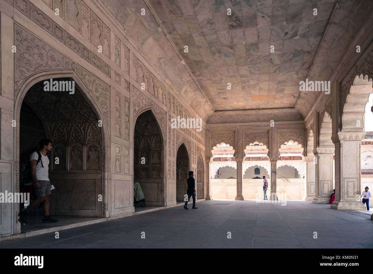Agra fort india interior stock photos agra fort india for Diwan e khas agra fort