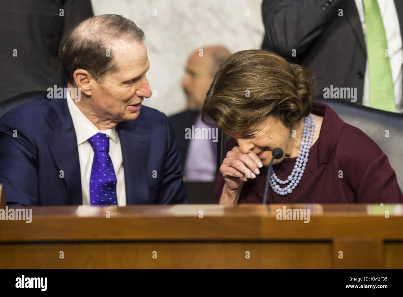 Washington, District Of Columbia, USA. 1st Nov, 2017. United States Senator DIANNE FEINSTEIN, Democrat of California, - Stock Image