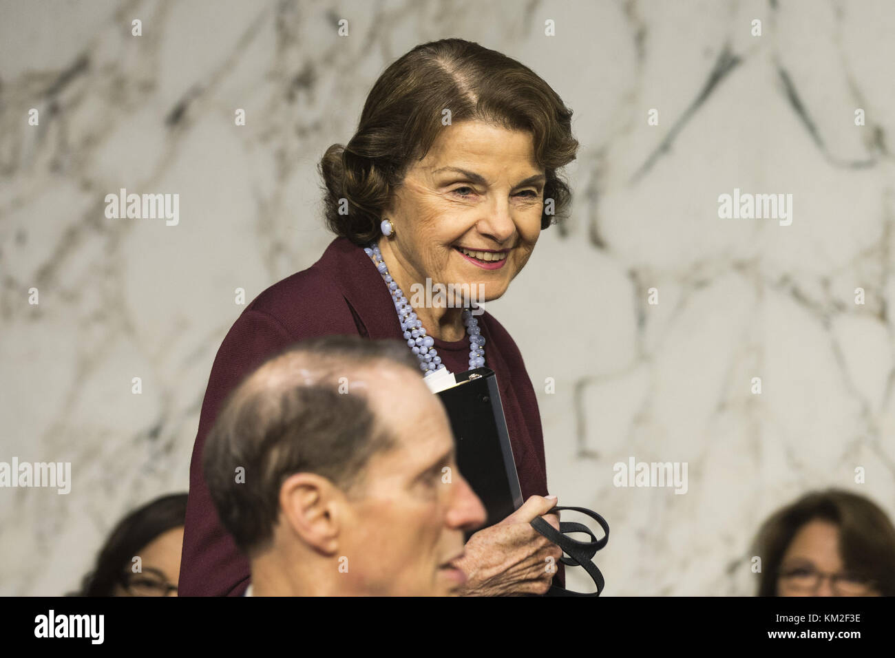 Washington, District Of Columbia, USA. 1st Nov, 2017. United States Senator DIANNE FEINSTEIN, Democrat of California. - Stock Image
