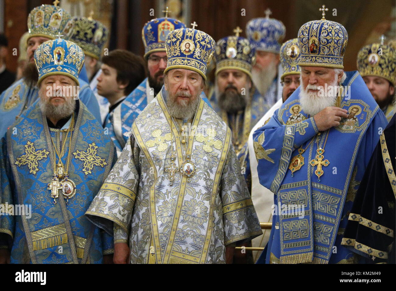 Moscow, Russia. 4th Dec, 2017. Archpriests of the Russian Orthodox Church - Metropolitan Vladimir of Chisinau and - Stock Image