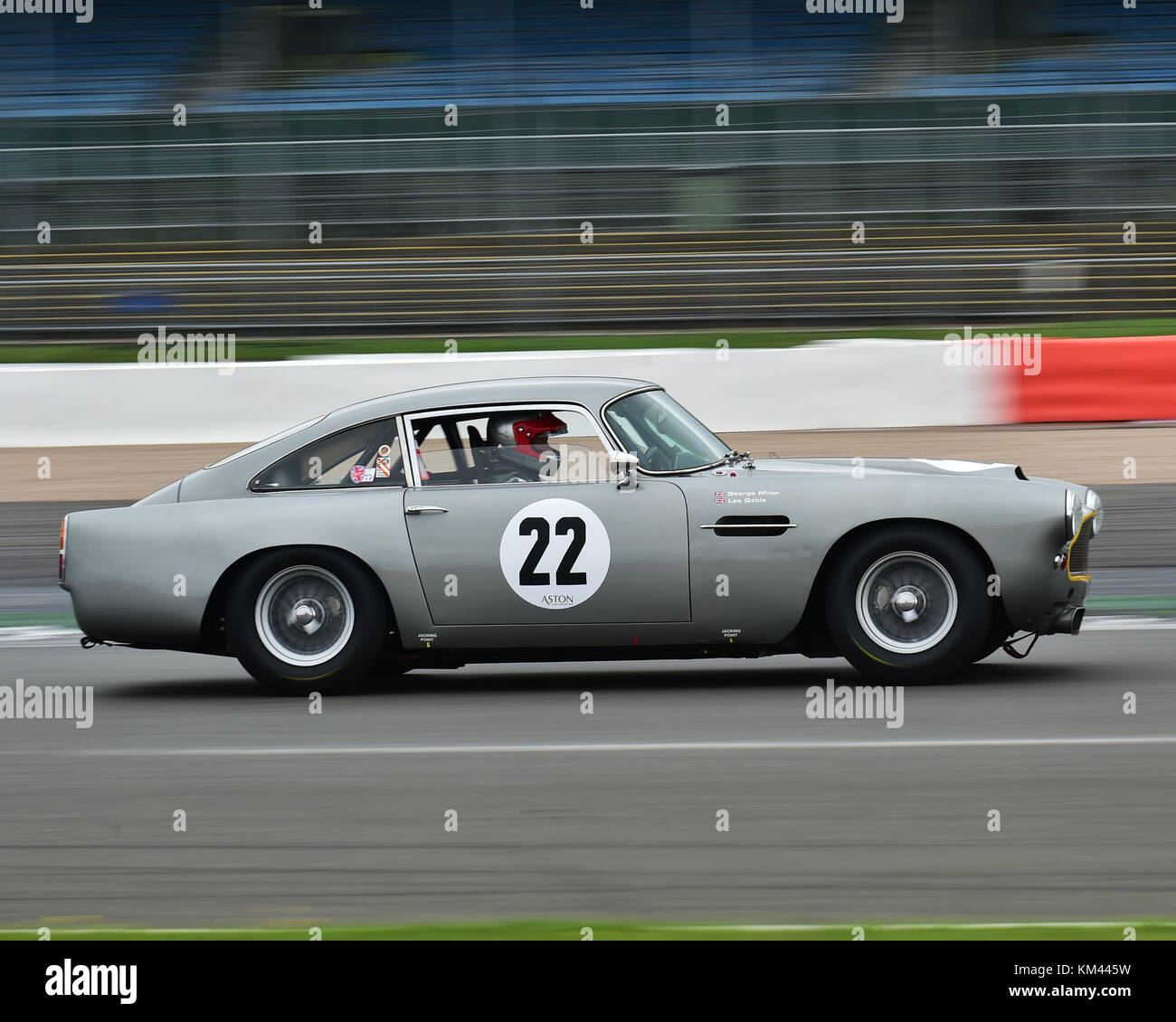 Les Goble, George Miller, Aston Martin DB4, Royal Automobile Club Tourist Trophy, Historic cars, Pre-63 GT Cars, - Stock Image