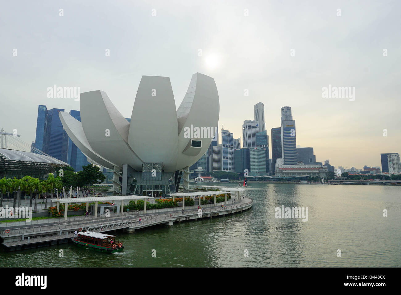 ArtScience Museum locate at Marina Bay Sands‎, Downtown Core of Central Area Singapore. - Stock Image