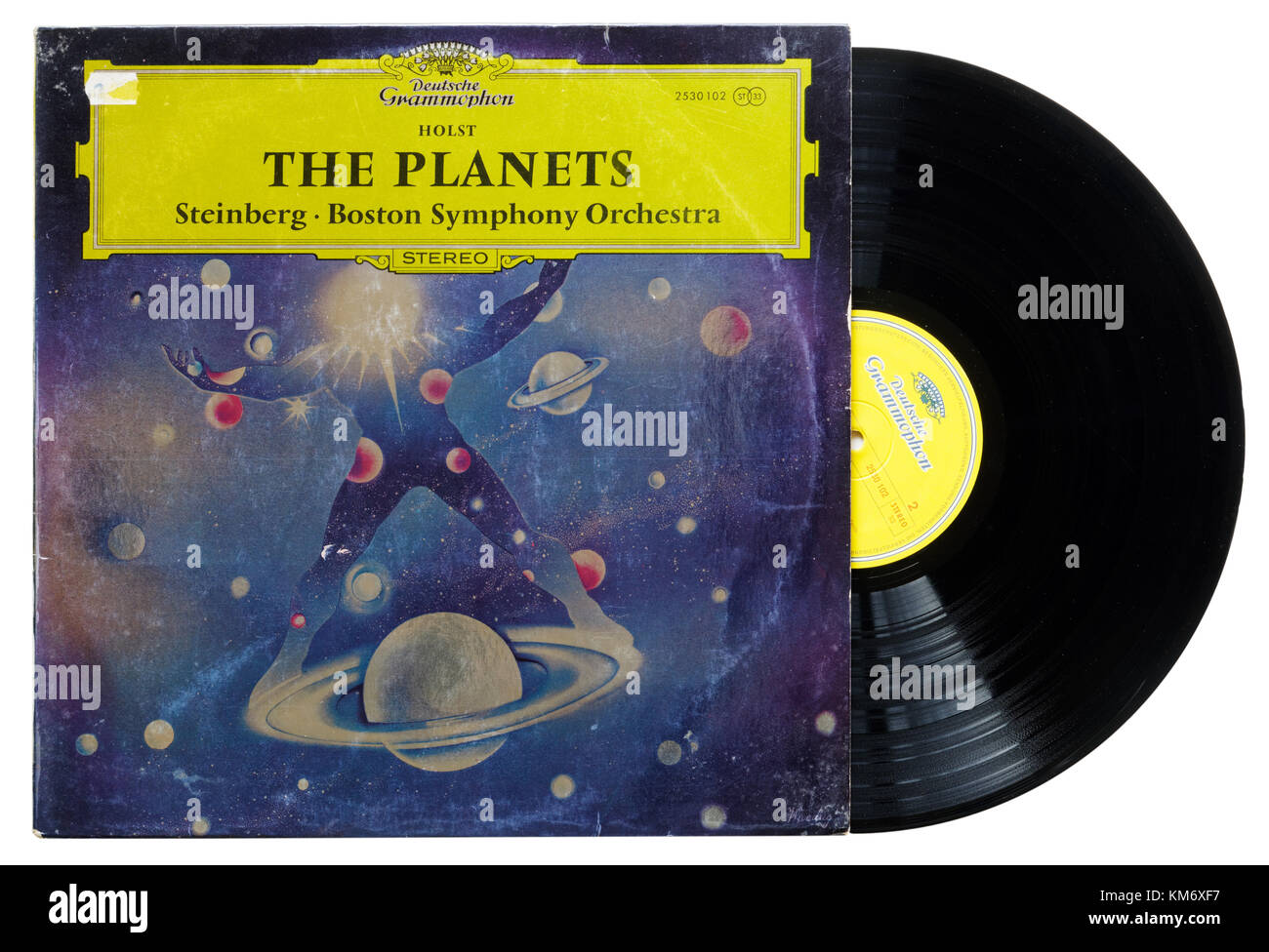 Gutav Holst The Planets album, with the Boston Symphony Orchestra - Stock Image
