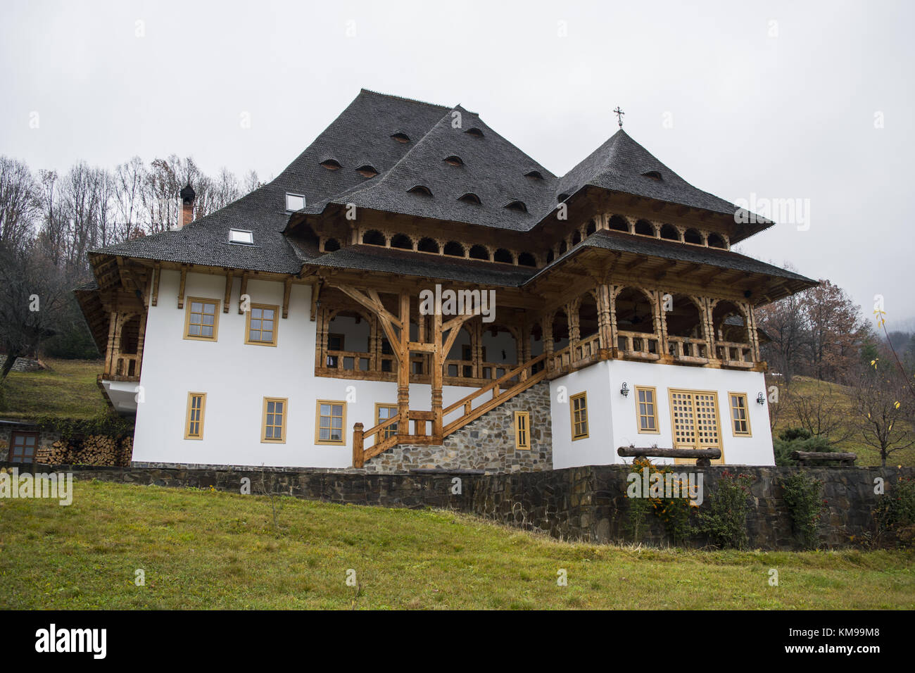 Peasant house made in maramures romania stock photo royalty free image 167391624 alamy - Houses maramures wood ...