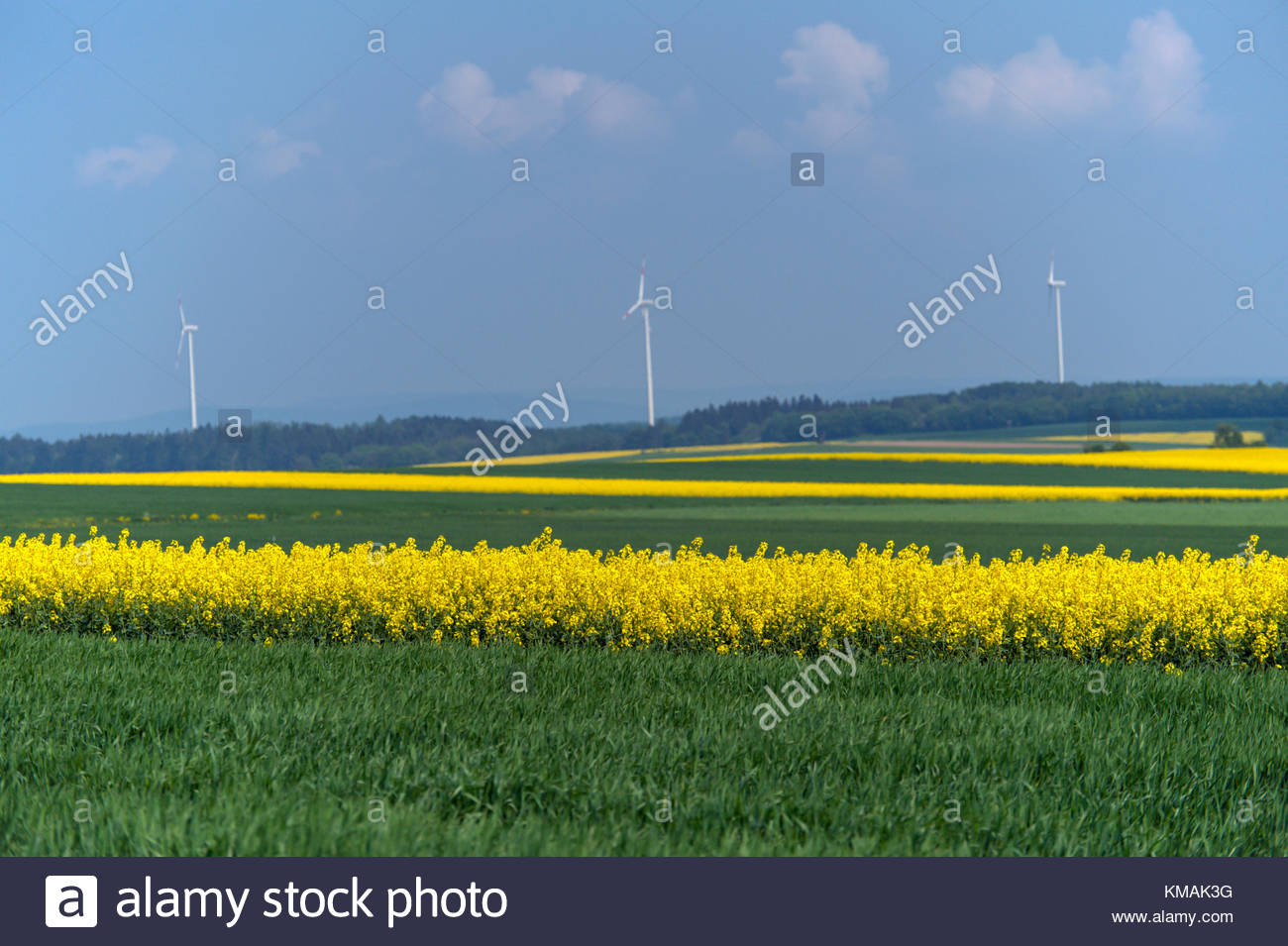 Clean energy windpower, and agriculture. - Stock Image