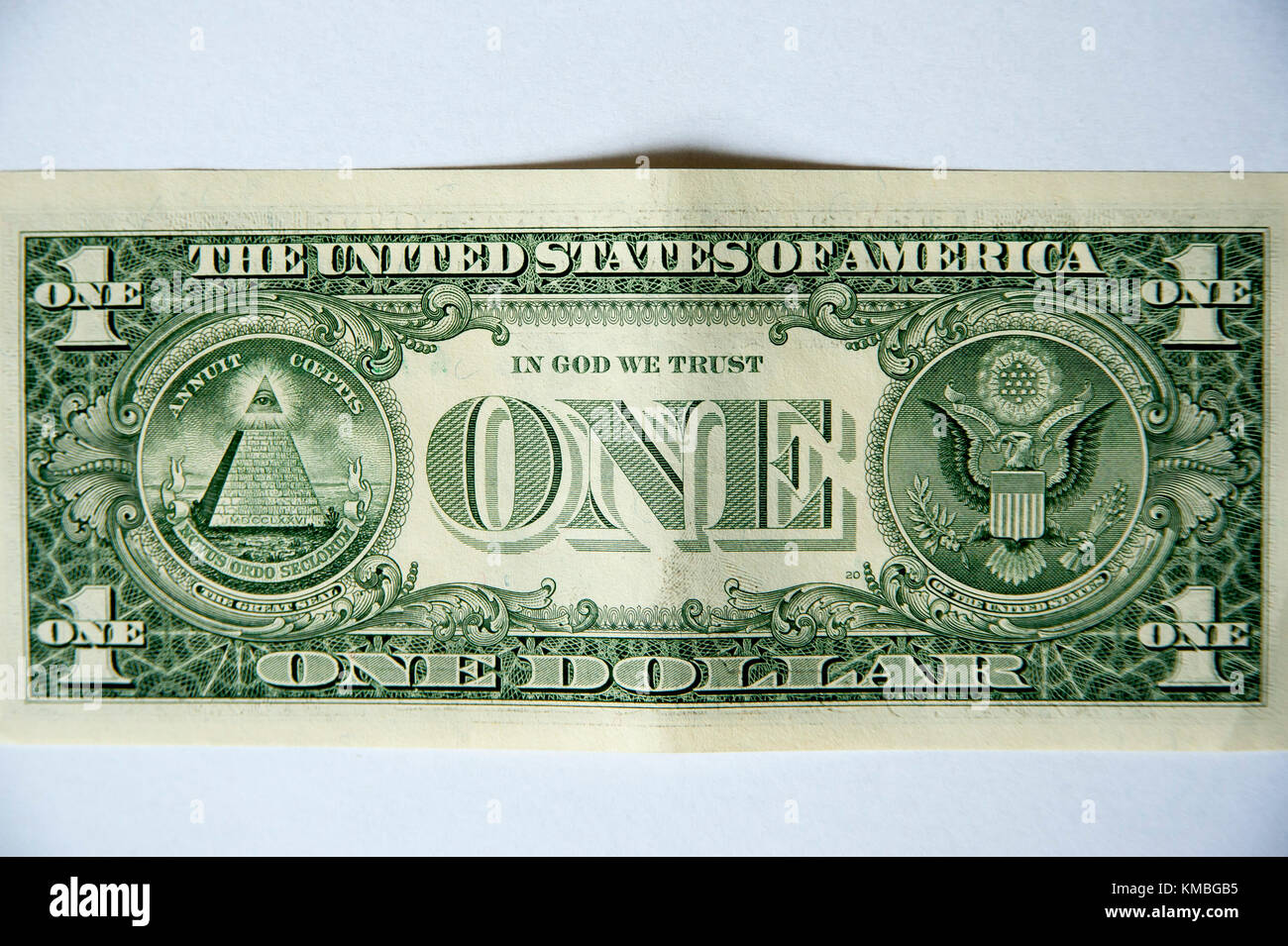 The United States one-dollar bill ($1) reverse with Great Seal of the United States © Wojciech Strozyk / Alamy - Stock Image