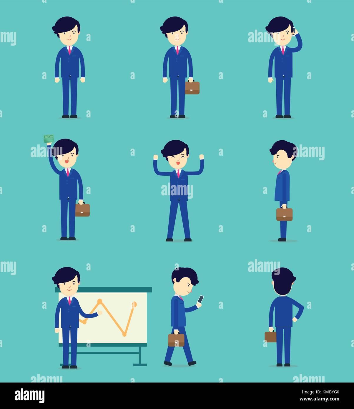 Cartoonsmart Character Design : Business man character in office stock photos