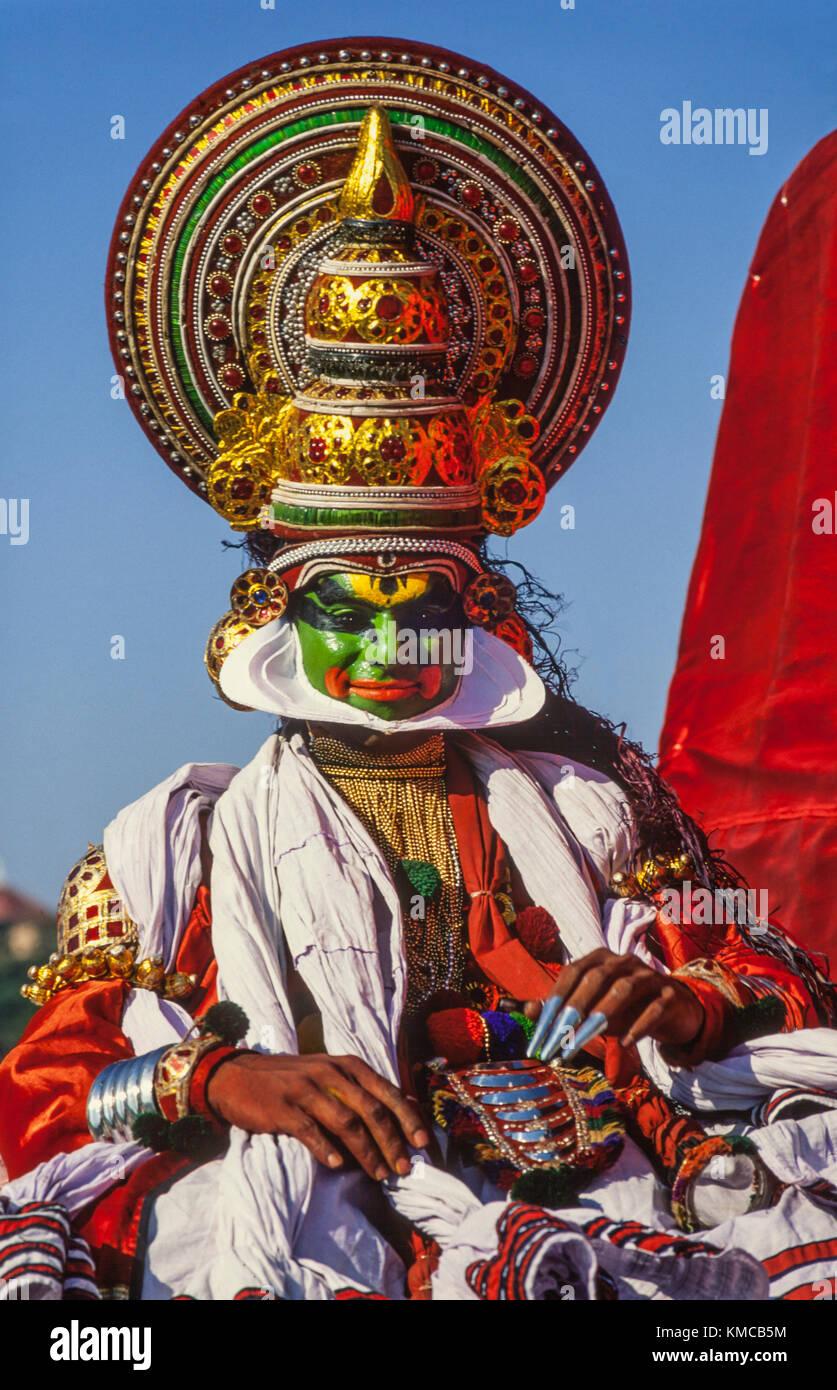 Kathakali dancer in Cochin India - Stock Image