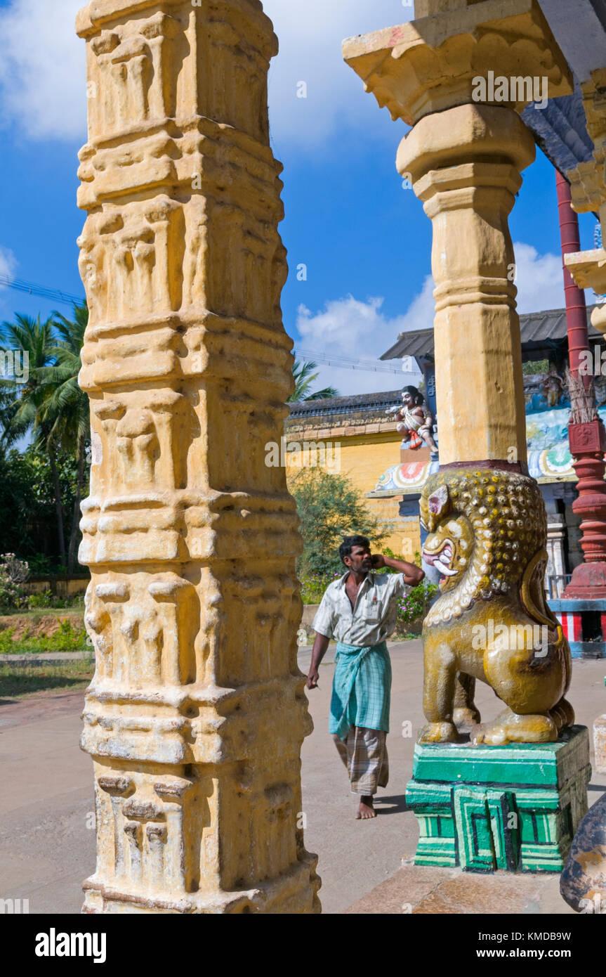 Nageshwaraswami Temple Kumbakonam Tamil Nadu India - Stock Image