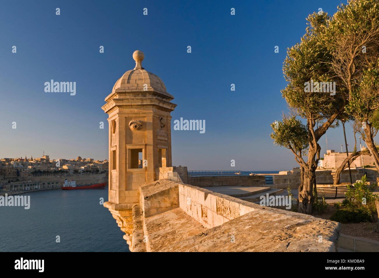 Sentry post Grand Harbour Valletta Malta - Stock Image
