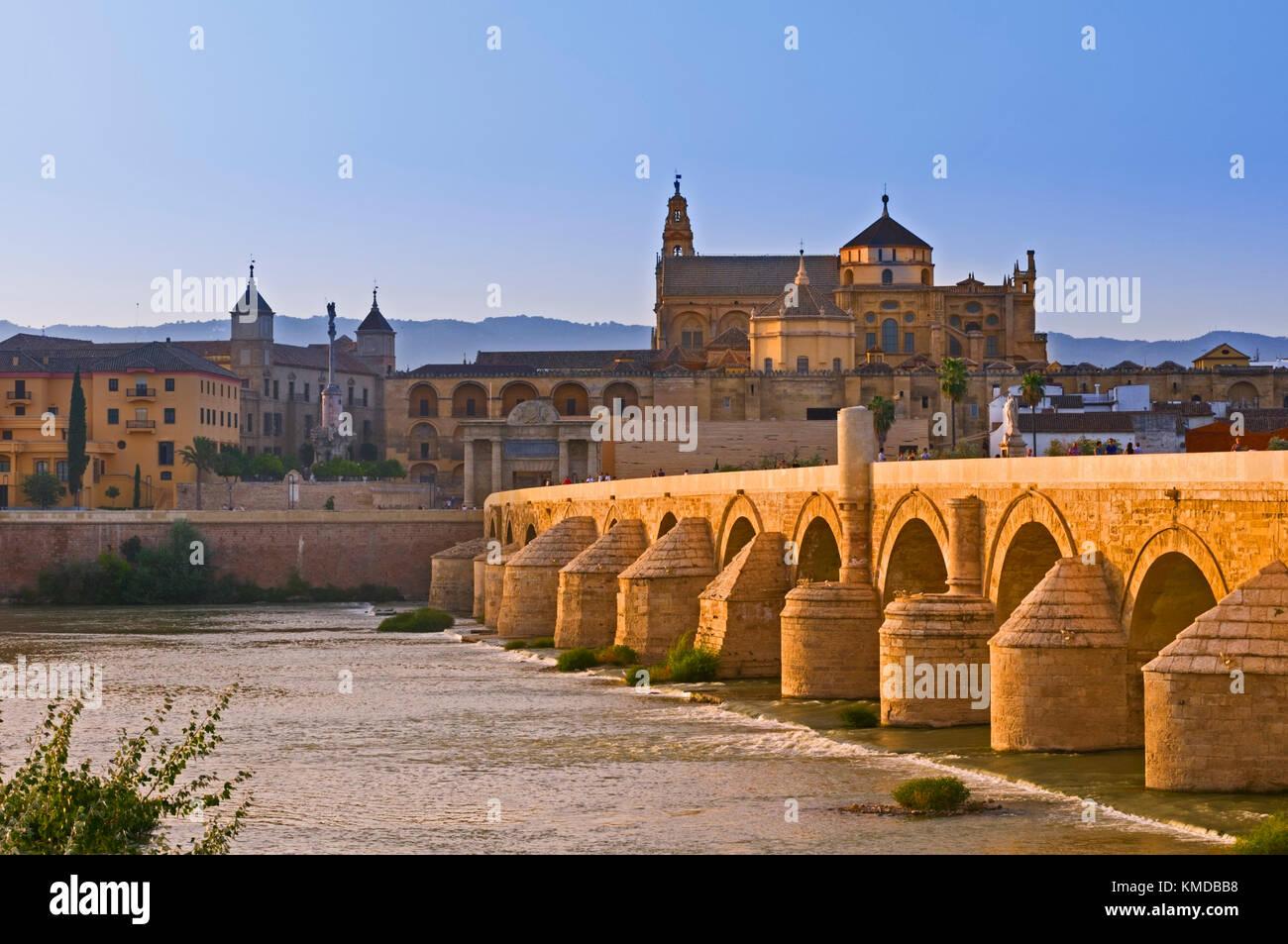 Puente Romano Roman Bridge Cordoba Andalusia Spain - Stock Image