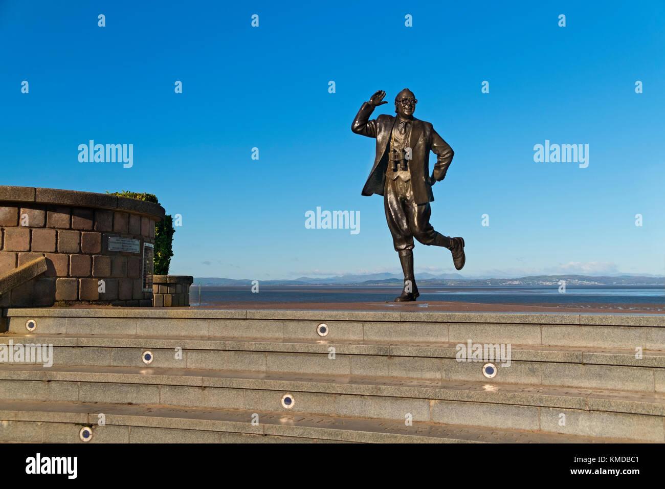 Eric Morecambe statue Morecambe Lancashire UK - Stock Image