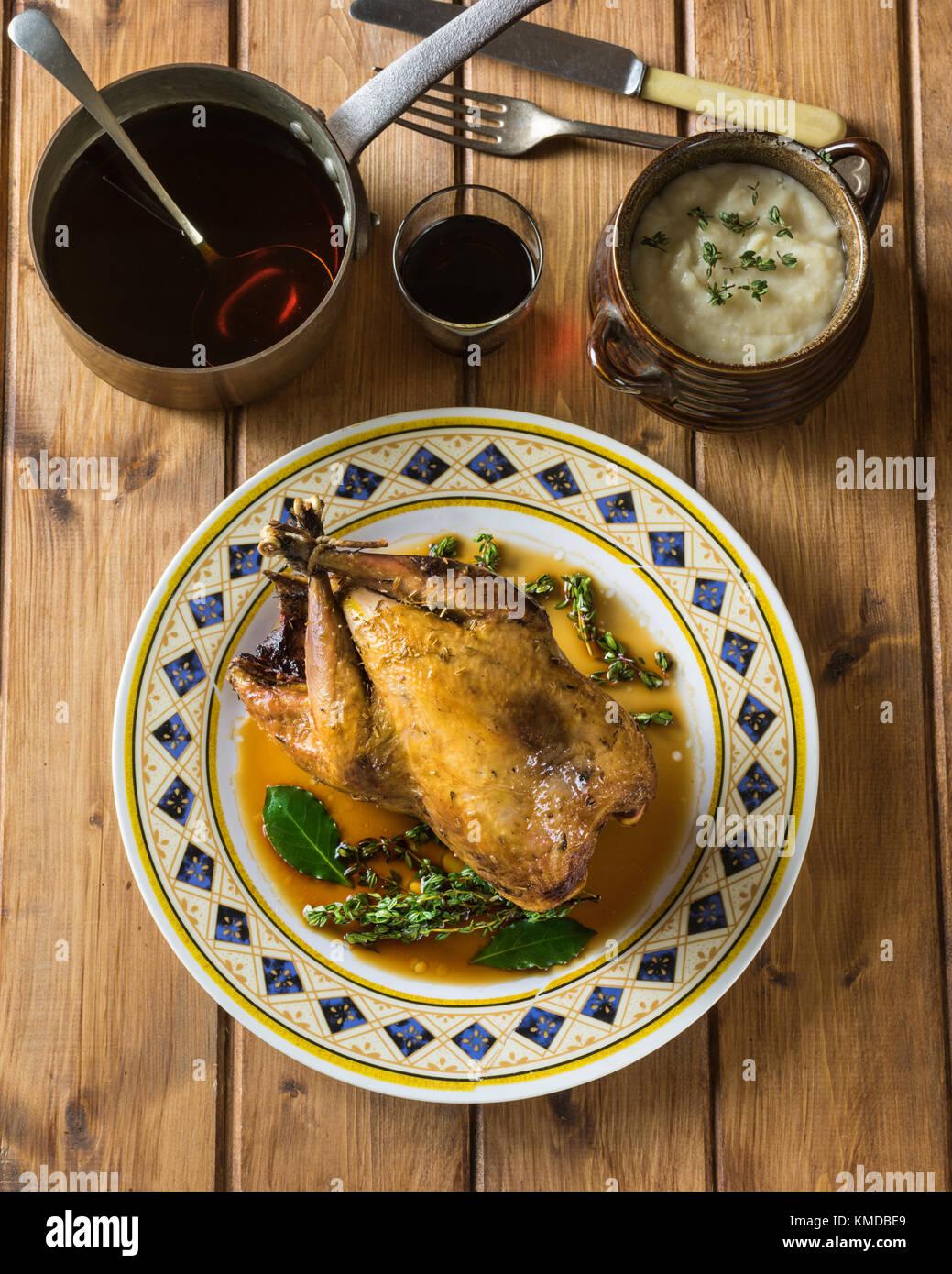 Roast pheasant - Stock Image