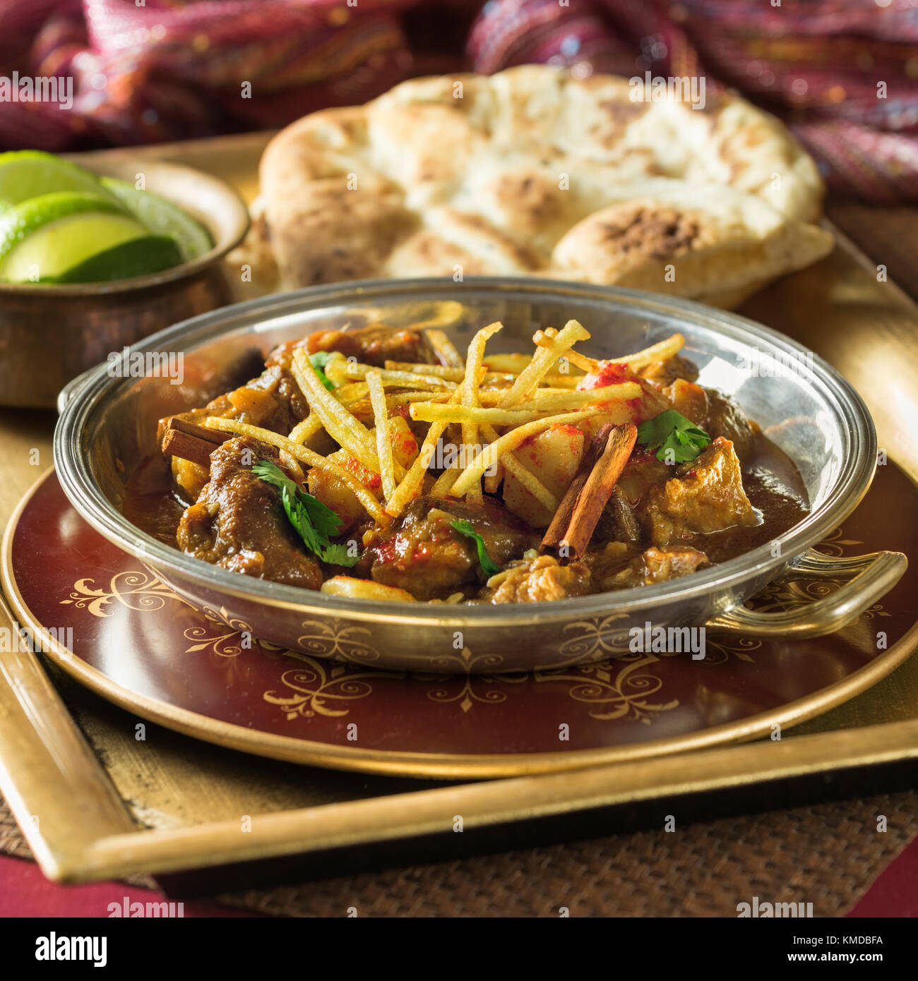 Indian railway mutton curry. India Food - Stock Image