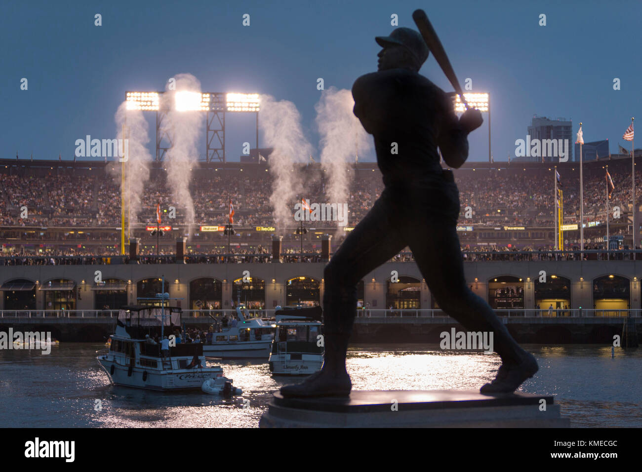 ATT Ballpark, home of San Francisco Giants baseball team, San Francisco, California, USA - Stock Image