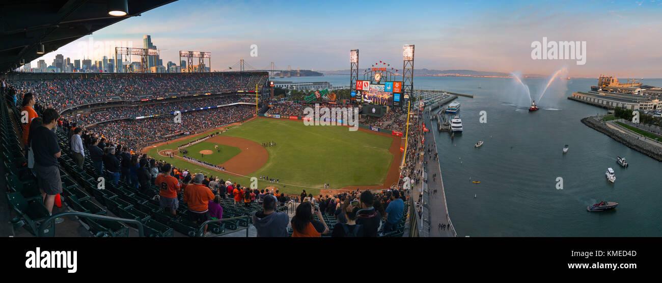 baseball park with audience, San Francisco, California, USA - Stock Image