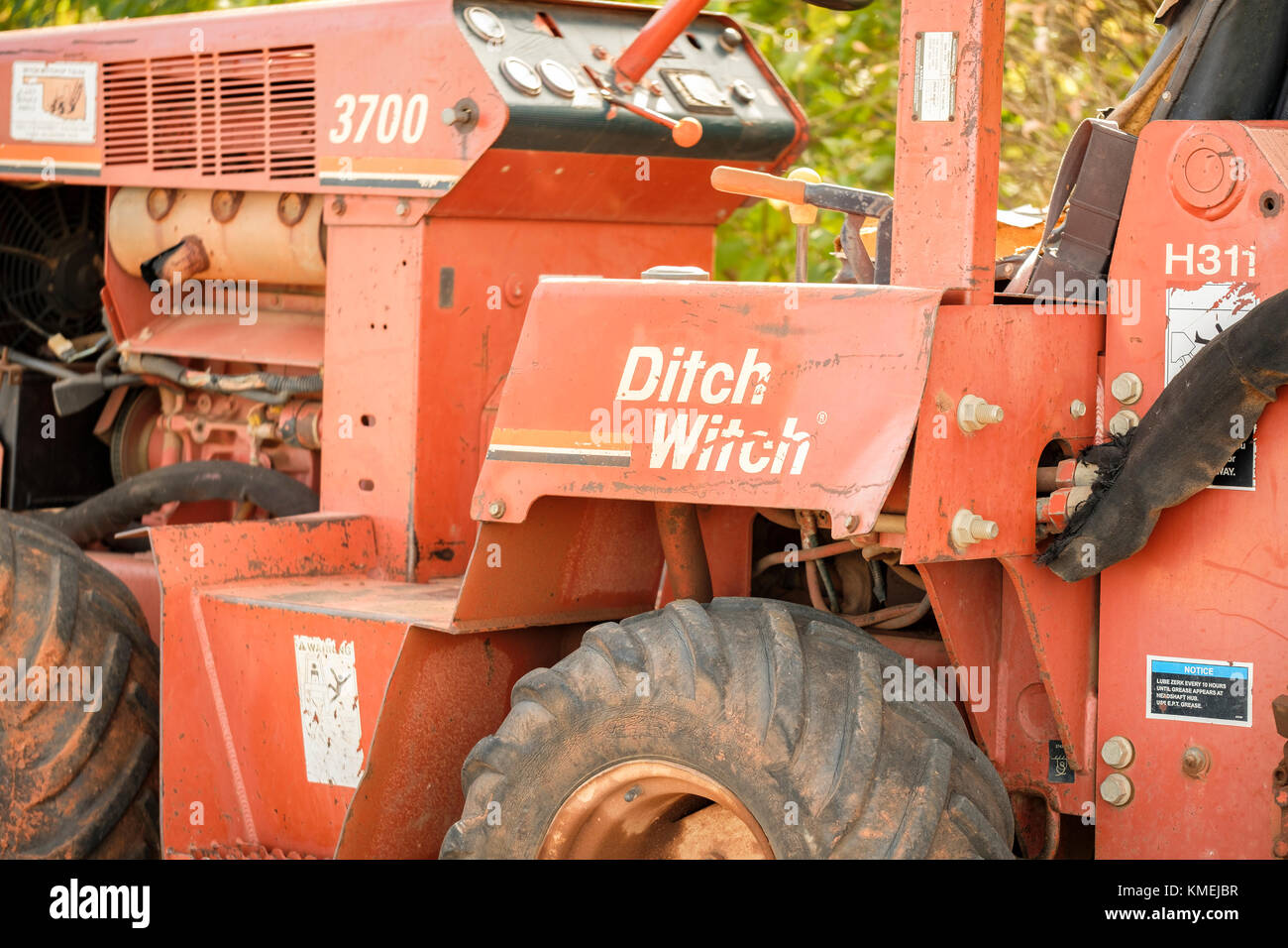 Trenching Machines Working : Trenching machine stock photos