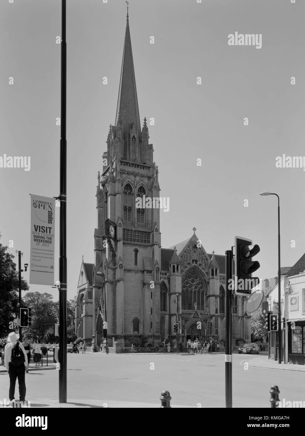 The Church of Our Lady and the English Martyrs (OLEM) Roman Catholic Church Cambridge - Stock Image