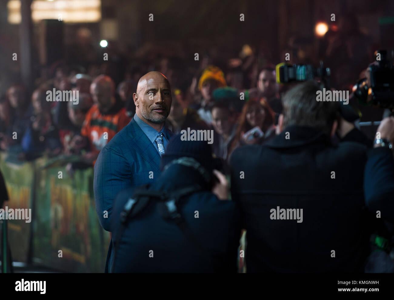 'Jumanji: Welcome To The Jungle UK Premiere - VIP Arrivals - Stock Image